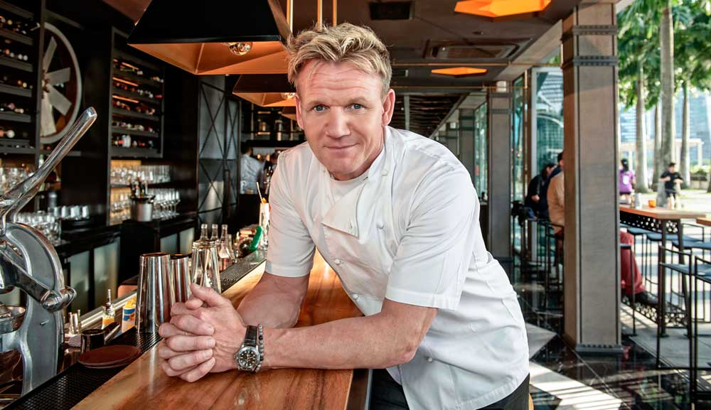 Bread Street Kitchen 餐厅的名厨 Gordon Ramsay