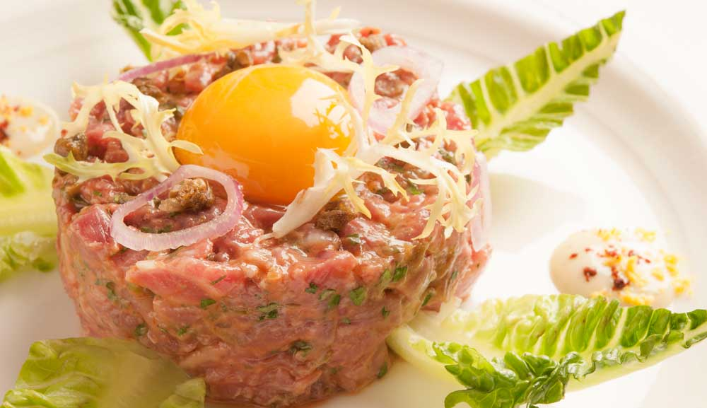 Beef Tartare at db Bistro and Oyster Bar