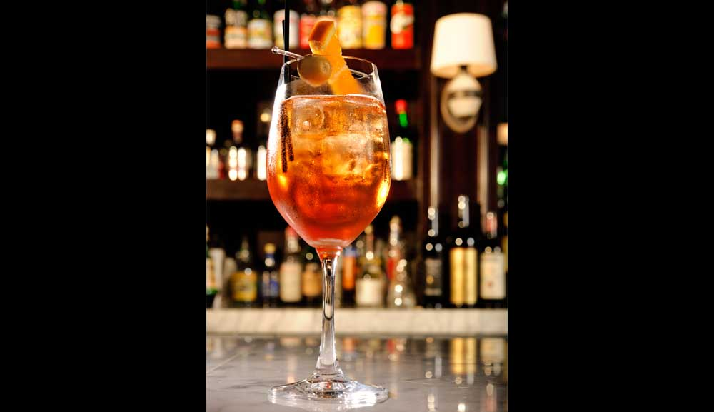 Aperol Spritz Cocktail - The Bar at Pizzeria Mozza, Marina Bay Sands