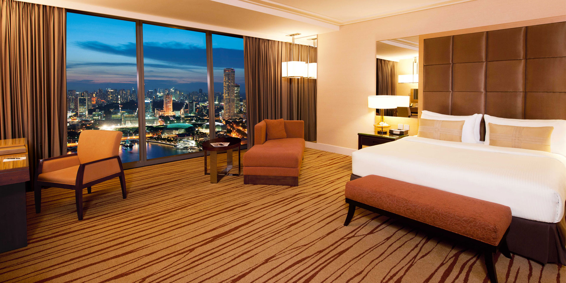 Grand Club Room at Marina Bay Sands with King Bed and City View