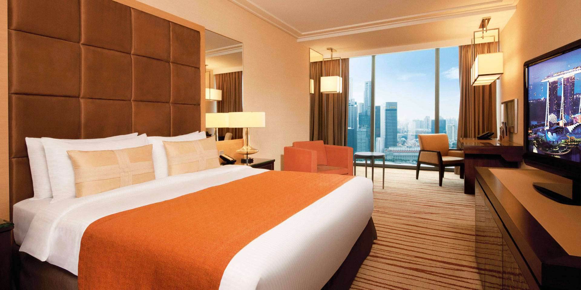 Premier Room at Marina Bay Sands with King Bed and City View