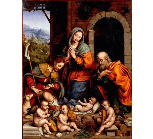 Giampietrino (Gian Pietro Rizzoli) 繪製的《聖洛克朝拜聖嬰》(Adoration of the Child with Saint Roch)