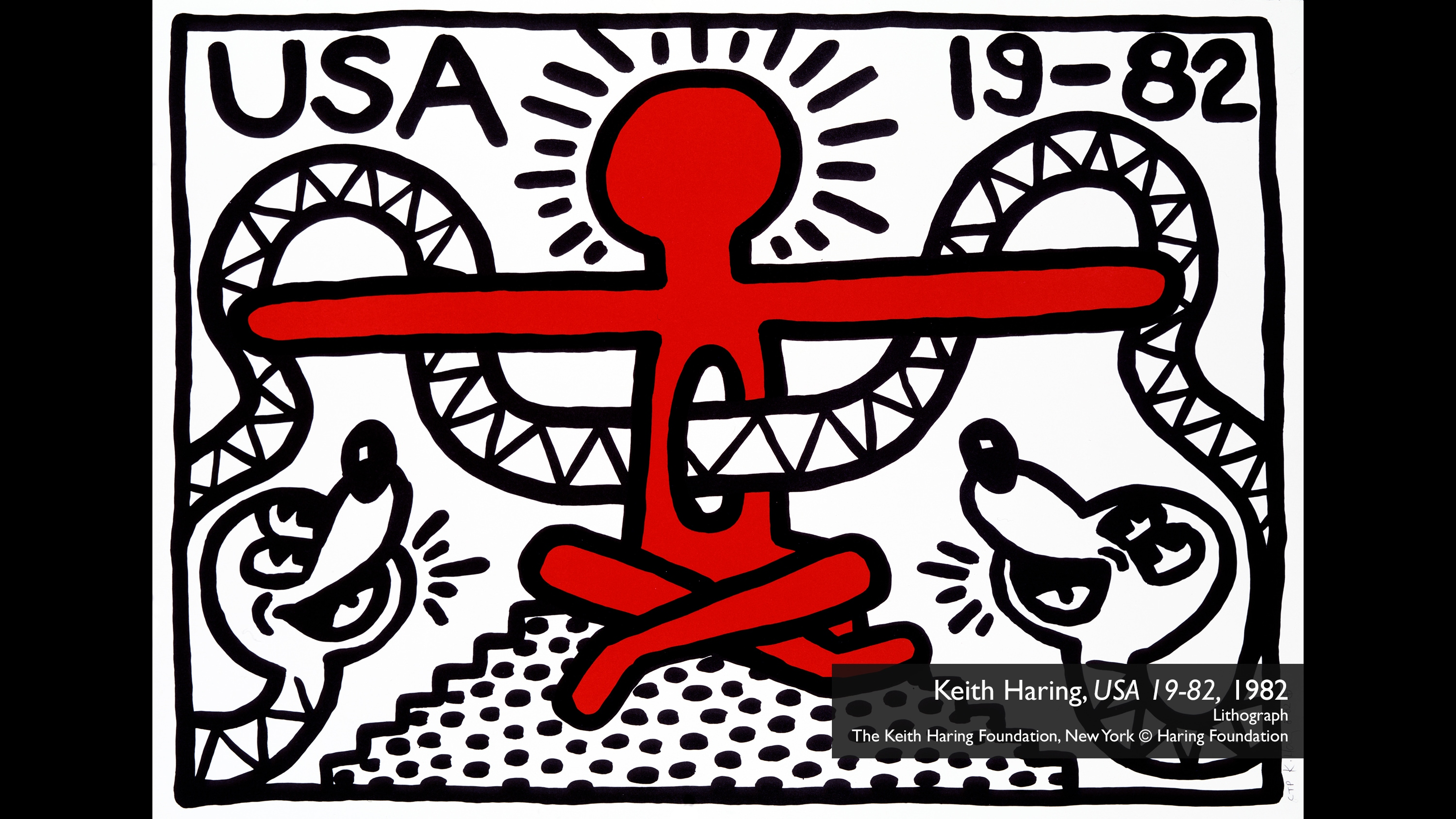 Keith Haring, USA 19-82, 1982. Lithograph The Keith Haring Foundation, New York © Haring Foundation