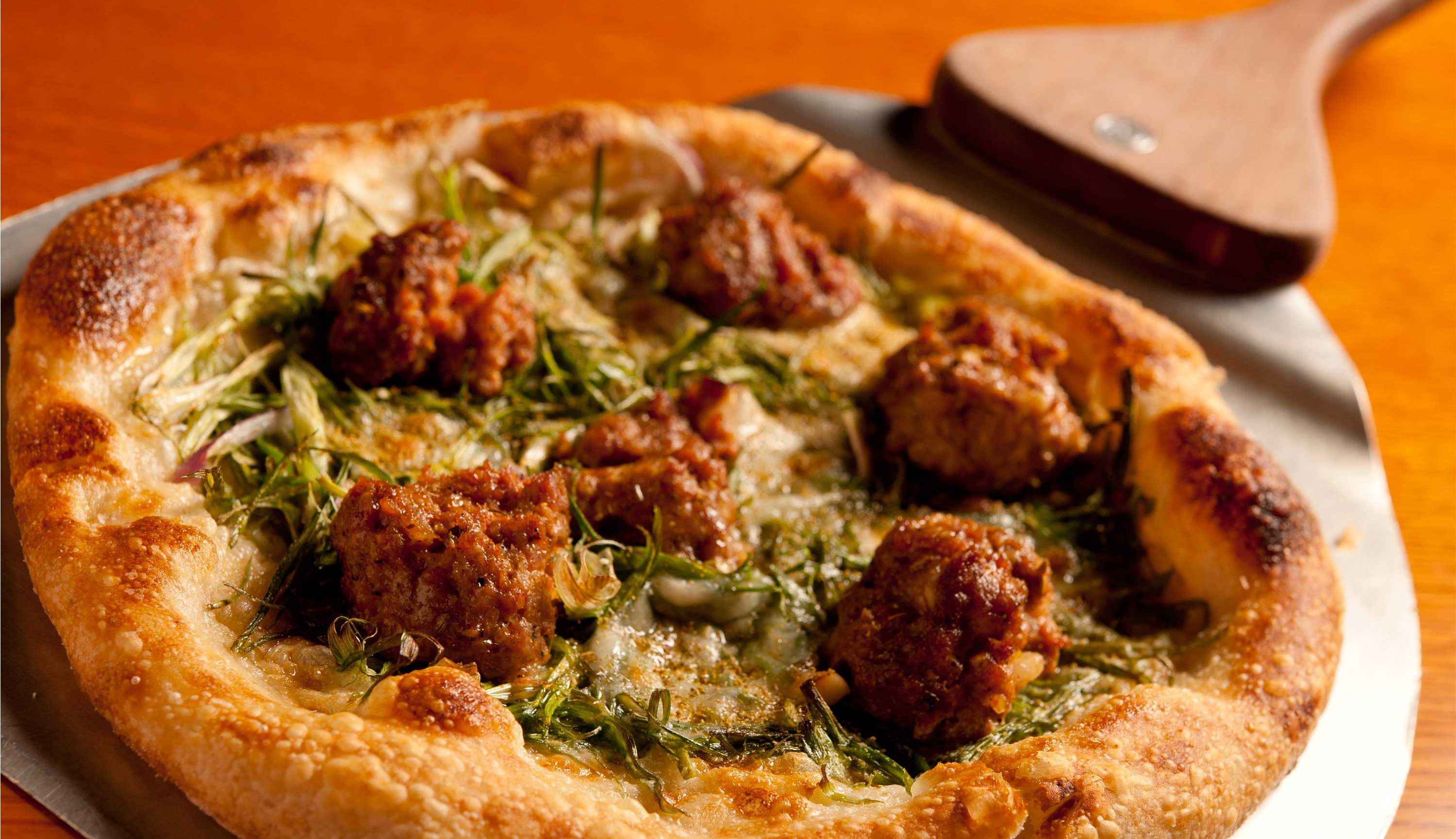 Fennel Sausage Pizza at Pizzeria Mozza, Marina Bay Sands