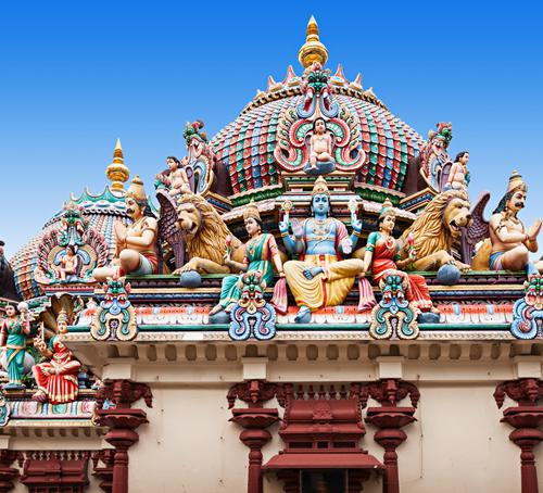 The Hindu temples in Singapore