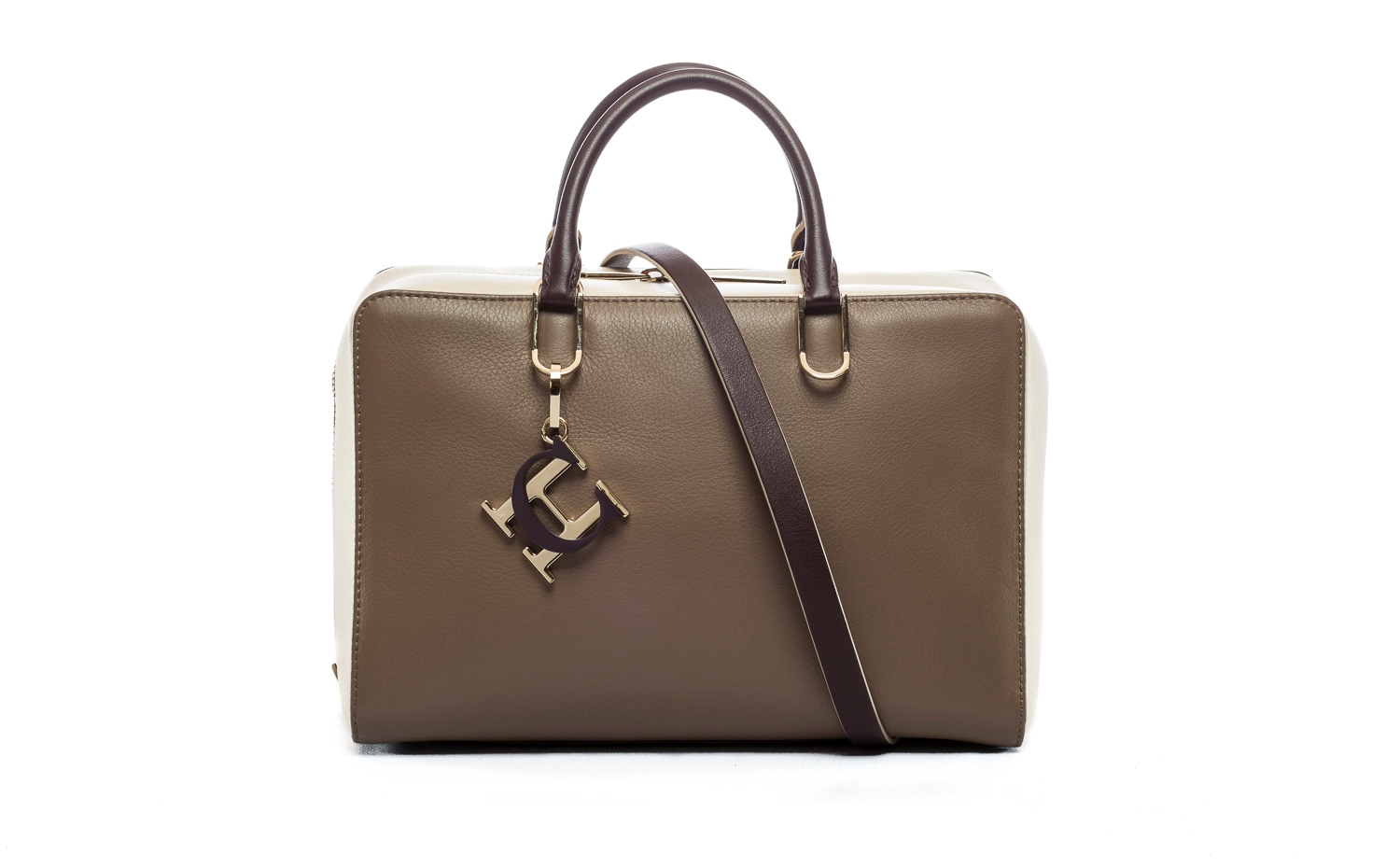 CH Carolina Herrera: Duke in Greco Taupe/Magnolia/Ruby
