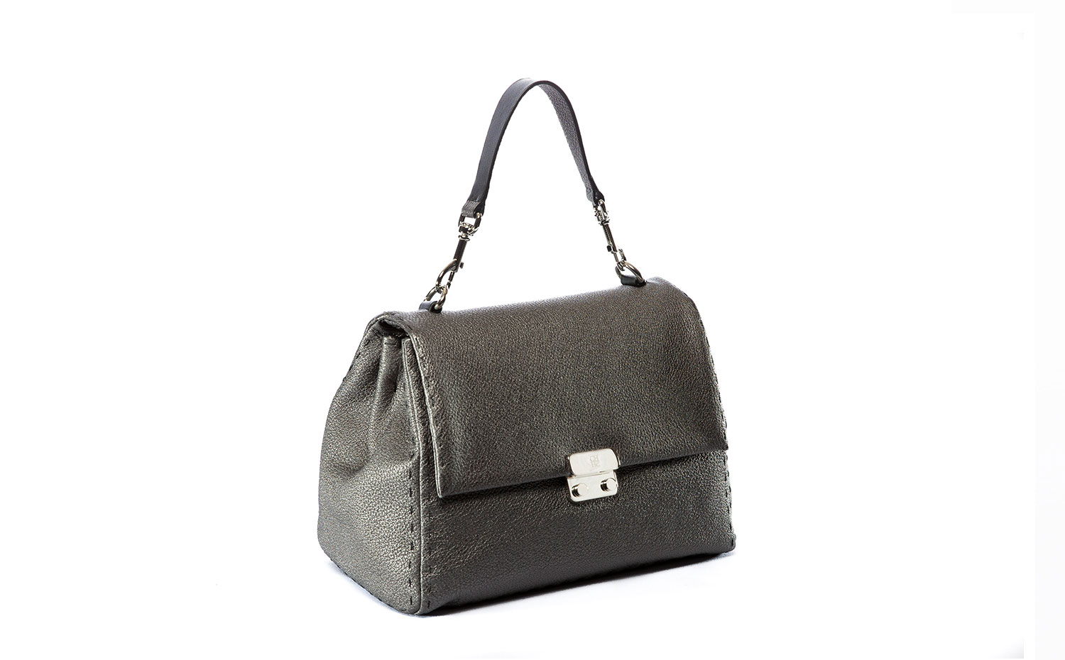 CH Carolina Herrera: Baret Bag in Gunmetal