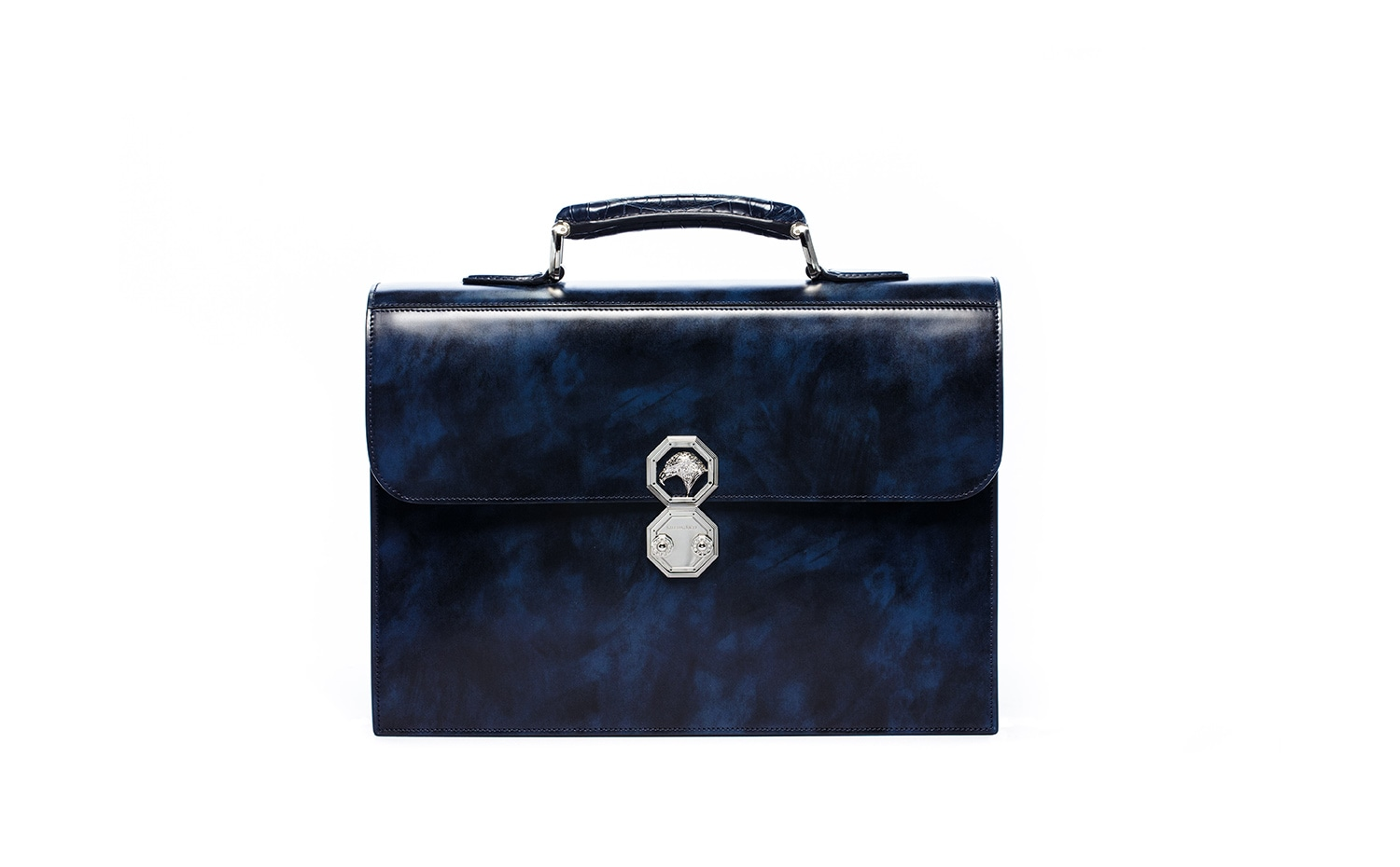 Stefano Ricci: Horse Skin Leather Briefcase