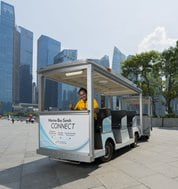 Complimentary Tram Service at The Shoppes at Marina Bay Sands