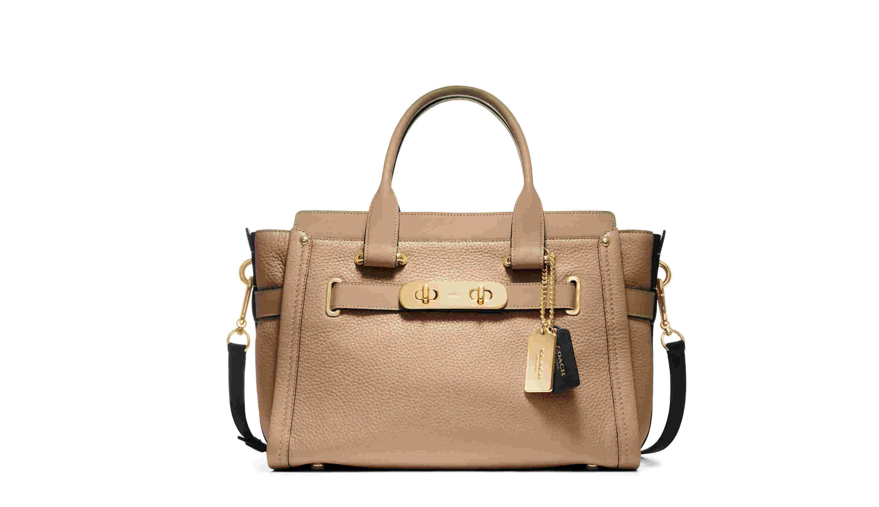 Colorblock Lthr Coach Swagger 27 Carryall